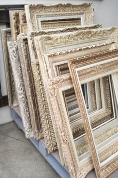 Vintage off white frames as beautifully crafted as the pictures they will hold!