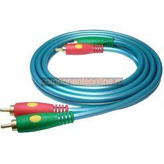 Cablu audio 2xRCA tata - 2xRCA tata, lungime 1,5m - 128031