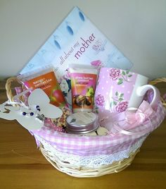 Mother s Pamper Hamper in a pretty basket. Great birthday or Xmas present.