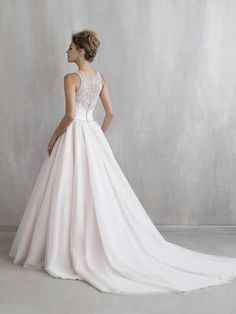 d674a39e9fb8 Cheap Ball Gown 2016 Chapel Wedding Bridal Dresses With Sleeveless By  Madison James High Neck Crystals