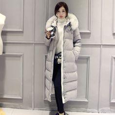 ברווז לבן למטה חורף מעיל נשים Slim הארוך Parka מעילי מעילי מעיל נשים מעיל החורף בתוספת גודל עבה במורד מעיילי