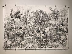 Vancouver Art Gallery, Kim Jung, Vintage World Maps, Tapestry, Ink, Shower, Prints, Home Decor, Rain Shower Heads