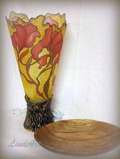 Linduschka / Stolná lampa Secesia