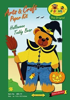 "Halloween Bear Paper Craft Project Kit for Window or Wall Decoration DIY 13.8"" X 16.5"" for Children Fischer Fensterbilder http://www.amazon.com/dp/B00ZS5425G/ref=cm_sw_r_pi_dp_Xqdkwb0RJ7SVH"