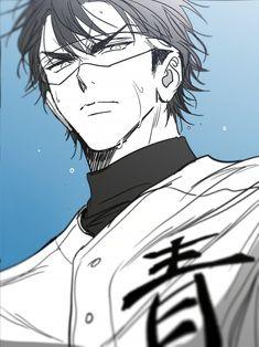 Hot Baseball Guys, Diamond No Ace, Miyuki Kazuya, Handsome Anime Guys, Anime Oc, Cute Anime Boy, Cute Art, Haikyuu, Character Art