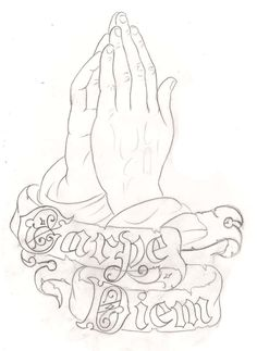 simple praying hands tattoo design - Google Search