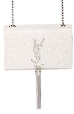 Saint Laurent  Small Monogram  Croc Embossed Crossbody Bag available at   Nordstrom Satchel 63a8e2561bb6b