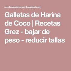 Galletas de Harina de Coco | Recetas Grez - bajar de peso - reducir tallas Keto, Paleo, Atkins, Diabetes, Low Carb, Coconut Flour Cookies, Cooking Recipes, Food Cakes, Healthy Recipes