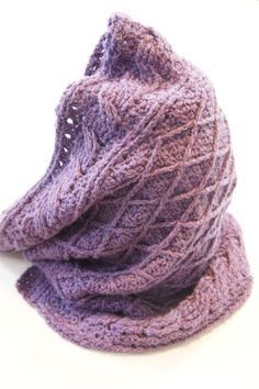 Cables & Lattice Cowl Crochet Pattern PDF INSTANT by knotsewcute $4.99