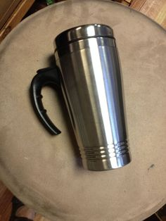 STAINLESS STEEL TRAVEL COFFEE MUG WITH HANDLE NEW  #GREENCANTEEN