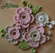 Watch The Video Splendid Crochet a Puff Flower Ideas. Wonderful Crochet a Puff Flower Ideas. Freeform Crochet, Crochet Motif, Irish Crochet, Crochet Lace, Crochet Hood, Crochet Puff Flower, Knitted Flowers, Crochet Flower Patterns, Crochet Crafts