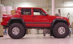Here is my pride and joy, low buck homemade project I call it a Jeep Cherokee apache. Home made and home painted, you got it a homemade lift kit to. Jeep Sport, Jeep Cherokee Sport, Jeep Grand Cherokee, Jeep Xj Mods, Jeep 4x4, Jeep Truck, Cool Jeeps, Cool Trucks, Big Trucks