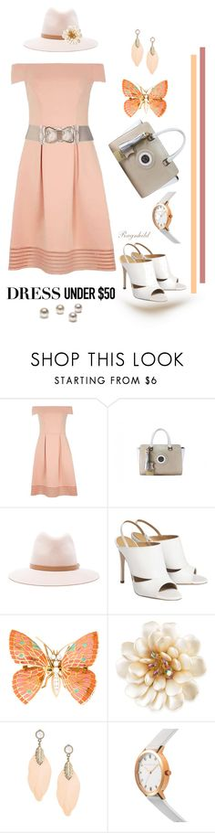 """Dress under $50"" by ragnh-mjos ❤ liked on Polyvore featuring Dorothy Perkins, rag & bone and Carolee"
