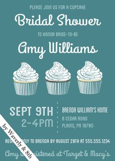 DIY Printable Wedding Shower Invite (Printing services available)