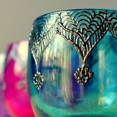 Hey, I found this really awesome Etsy listing at https://www.etsy.com/listing/94853401/moroccan-votive-holder-with-peacock-blue
