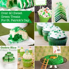 St. Patrick's Day - Green Sweet & Treat Recipe Round Up.  So many fun and easy for St. Patrick's Day.
