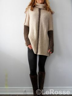 Oversized/Slouchy/Loose knit sweater. Alpaca /Merino sweater.