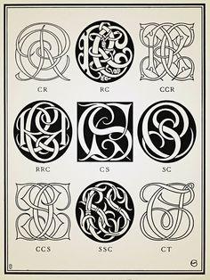 Monograms  Ciphers - 1906 #monograms