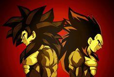 Goku and Vegeta Black Goku, Dragon Ball Z, Akira, Super Saiyan 4 Goku, Epic Characters, Z Arts, Character Art, Manga Anime, Drawings