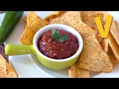 Mexican salsa - Recipe by The Vegan Corner - YouTube