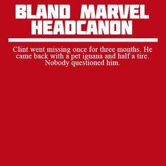 #blandmarvelheadcanons