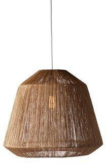 Manhattan Natural Jute Grass Hanging Pendant, Dark Brown -- The epitome of raw, rustic style, this pendant is crafted from twisted jute and will add unexpected texture to your space while it casts a gorgeous glow. A great addition to a creative space or screened-in porch. Hardwired.