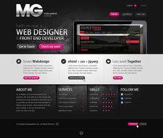 dark and grunge web design - #web #design