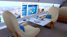 A windowless jet currently in development could soon let passengers feel like they're literally riding in the sky.