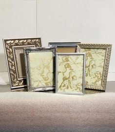 Silver 5x7 Frames 5 Easel Standing Frames by ACottageAffair