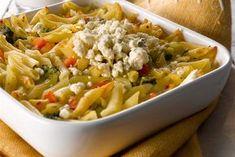 Pasta-kasvispaistos Crab Cheese Recipe, Cheese Recipes, Pesto, Pasta Salad, Macaroni And Cheese, Easy, Ethnic Recipes, Food, Crab Pasta Salad
