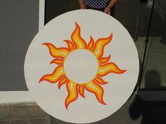 Sun, efeito de cores quentes em curvas.