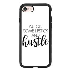 Lipstick & Hustle White - iPhone 7 Case And Cover ($40) ❤ liked on Polyvore featuring accessories, tech accessories, phone cases, iphone case, white iphone case, clear iphone case, apple iphone case, iphone cases and iphone cover case