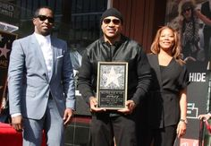 """LL Cool J, with Sean """"Diddy"""" Combs and Queen Latifah, is honored with a star on the Hollywood Walk o. - News/Splash News Hollywood Star, Hollywood Walk Of Fame, Julianne Hough Grease, Sean Diddy Combs, Grease Live, Ll Cool J, Queen Latifah, Drew Barrymore, Teen Choice Awards"""