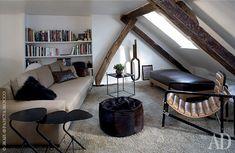 Квартира в мансарде в Париже: фото интерьеров под крышей | Admagazine | AD Magazine