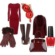 """cranberry love"" by galeriamagia on Polyvore"