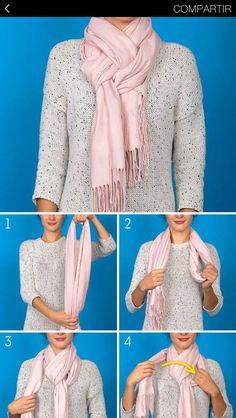 Best 12 How to wear a blanket scarf shawl tie scarves ideas howtowear – SkillOfKing.Com - Her Crochet How To Wear A Blanket Scarf, Ways To Wear A Scarf, Diy Scarf, How To Wear Scarves, Scarfs Tying, Ways To Tie Scarves, Tartan Plaid Scarf, Scarf Knots, Scarf Tutorial
