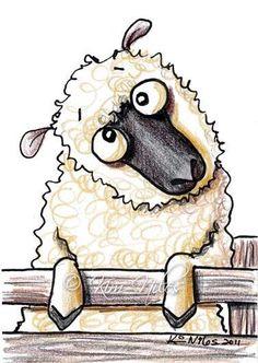 etsy sheep art | ... - by Nata ArtistaDonna from Cartoon Illustrative Work Art Gallery