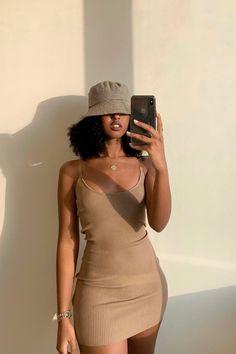 Black Girl Aesthetic, Brown Aesthetic, Aesthetic Fashion, Aesthetic Clothes, Cream Aesthetic, Aesthetic Outfit, Aesthetic Vintage, Nude Outfits, Girl Outfits