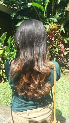 Ombre hair with black and brown