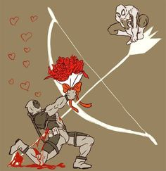 Spideypool aww even cupid wants it to happen