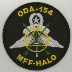 1st Special Forces Group Pocket Patches Operational Detachment A-154 B Company, 2nd Battalion