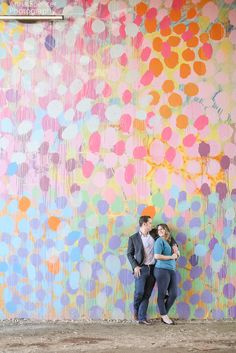 Atlanta Eastside Beltline Trail Engagement Photos. Engagement session with mural, graffiti.