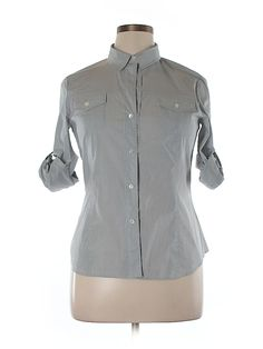 Check it out—Theory Long Sleeve Button-Down Shirt for $37.99 at thredUP!