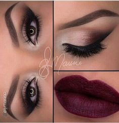 Flawless ombre eye make up! Make sure to add her on instagram!