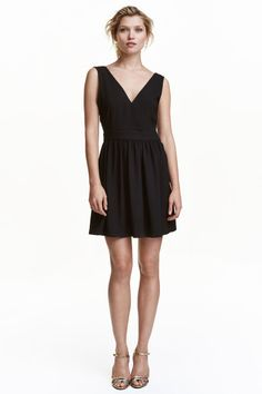 V넥 드레스