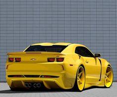 """They Call Me Mellow Yellow"" ~ Camaro ~ Vw Bus, Volkswagen, Camaro 2012, Camaro Ss, Chevrolet Camaro, Luxury Sports Cars, General Motors, Yellow Camaro, Toyota"
