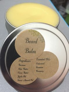 DIY Home Products: Beard Balm Want premium accessories at affordable prices? Looking for a shop where you get more for your money? Our mission at The Gentleman Shop is to give you quality, and along with it affordability. For the Modern Day Gentleman. Diy Beard Oil, Beard Oil And Balm, Beard Balm, Diy Savon, Beard Butter, Homemade Beauty Products, Beauty Recipe, Essential Oil Blends, Essential Oils