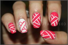 breast cancer awareness nails...