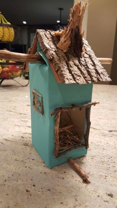Milk Carton Birdhouse                                                                                                                                                                                 More