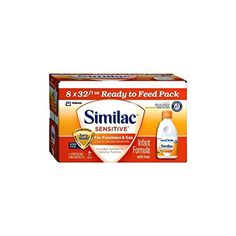 Abbott Similac Sensitive for Fussiness and Gas, Ready to Feed, 8 Count * You can get more details by clicking on the image.